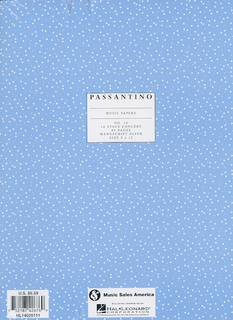 HAL LEONARD Passantino Manuscript Paper No.16 - 16 Stave