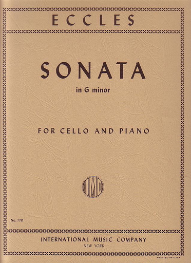 International Music Company Eccles, Henry: Sonata in G minor (cello & piano) IMC