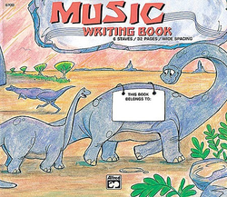 Alfred Music Alfred's Music Writing Book - Dinosaur, Alfred Music
