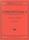 International Music Company Bach, C.P.E. (Cassado): Concerto No.3 in A Major (F Major) (cello, and piano)