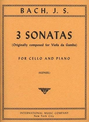International Music Company Bach, J.S. (Klengel): Three (3) Gamba Sonatas, S.1027-1029 (cello & piano) IMC