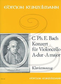 Edition Kunzelmann Bach, C.P.E. (Kneihs): Concerto in A Major - AUGMENTED (cello & piano) Edition Kunzelmann