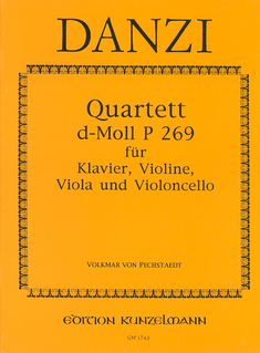 Danzi, F.: Quartet in D minor P.269 (violin, viola, cello, piano)