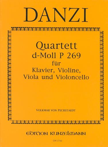 Danzi, F.: Quartet in D minor P.269 (violin, viola, cello, piano)