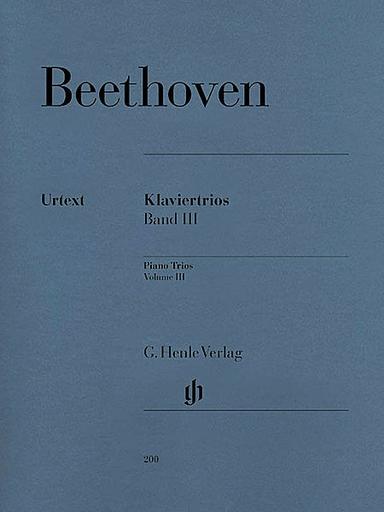 HAL LEONARD Beethoven, L.van (Klugmann, ed.): Piano Trios, Vol.3, urtext  (violin, cello, and piano)