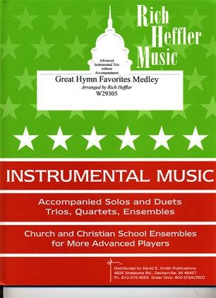 Heffler, Rich: Great Hymn Favorites Medley (2 violins & cello)