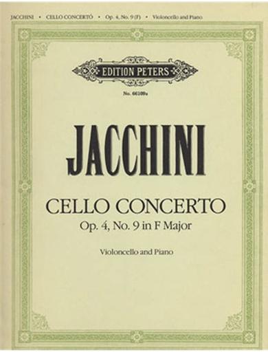 Jacchini, Giuseppe Maria: Cello Concerto Op.4 No.9 (cello & piano)