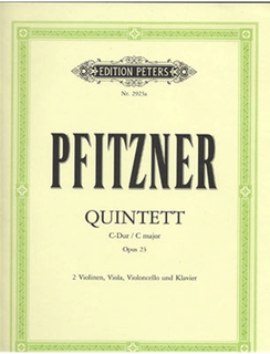 Pfitzner, Hans: Quintett in C major, Op.23 (2 violins, viola, cello, piano)