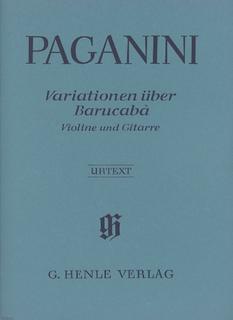 HAL LEONARD Paganini, N. (de Barbieri): 60 Variations on Barucaba, Op. 14 (violin & guitar)