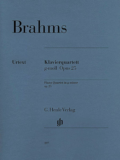 HAL LEONARD Brahms, J. (Krellmann, ed.): Piano Quartet, Op.25, No. 1, in G Minor (violin, viola, cello, and piano)