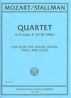 International Music Company Mozart, W.A.: Quartet in D major, K.311 (flute or violin, viola, cello)