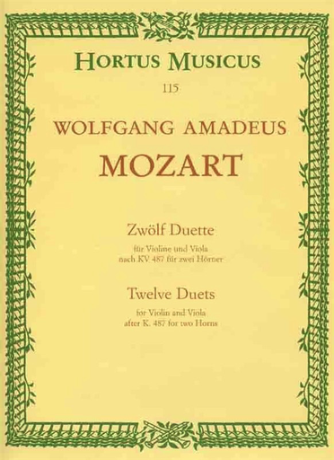 Barenreiter Mozart, W.A.: 12 Duets KV487 (violin & viola)