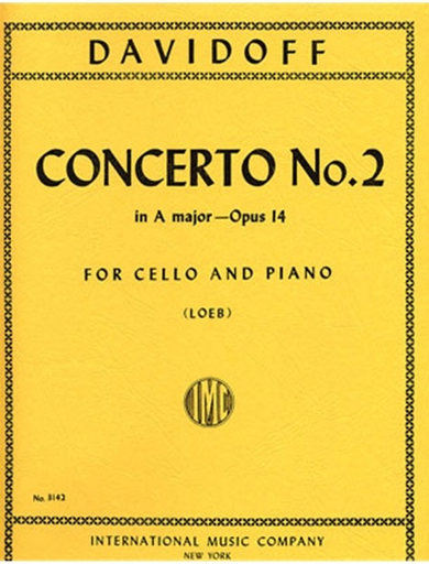 International Music Company Davidov, Carl (Loeb): Concerto No.2 Op.14 in A major (cello & piano)