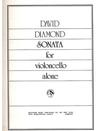 Carl Fischer Diamond, David: Sonata for Violoncello Alone