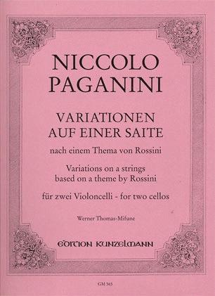 Paganini (Thomas-Mifune): Variations on a Theme of Rossini (2 cellos)