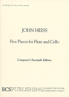 ECS Publishing Heiss: Five Pieces for Flute & Cello (flute & cello) ECS Publishing