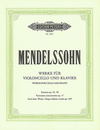 C.F. Peters Mendelssohn, F.: Works for Cello and Piano