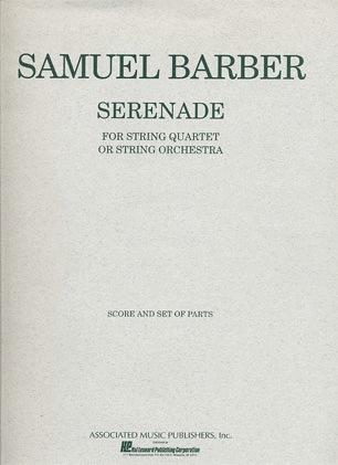 HAL LEONARD Barber, Samuel: Serenade for String Quartet Op.1 (score and parts)