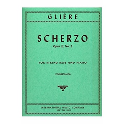 International Music Company Gliere, Reinhold (Zimmermann): Scherzo Op.32 #2 (bass & piano)