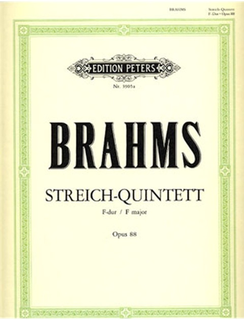 Brahms, Johannes: String Quintet No.1 (2 violins, 2 violas, cello)