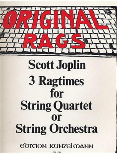 Joplin, Scott (Beyer): Ragtimes for String Quartet-Vol.1