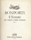 HAL LEONARD Bonporti, F.A.: Four Sonate, Op. 12 (violin & basso continuo)