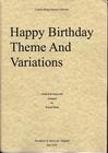 Carl Fischer Hill, Mildred (Read): Happy Birthday Theme and Variations (string quartet)
