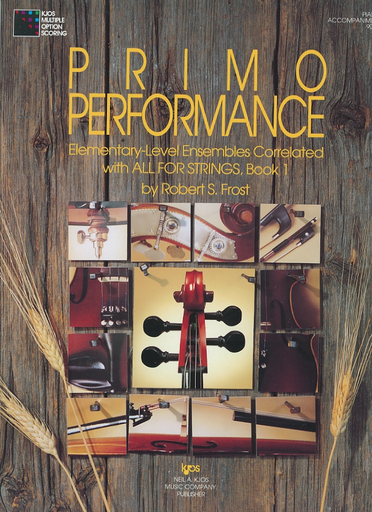 Frost, Robert: Primo Performance Bk.1 (piano accompaniment)