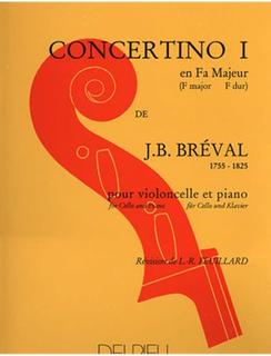 Edition Delrieu Breval, J.B.: Concertino No.1 in F Major (cello & piano)