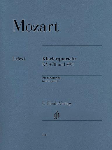 HAL LEONARD Mozart, W.A. (Herttrich, ed.): Piano Quartets,  KV. 478 and KV. 493, urtext (violin, viola, cello, and piano)