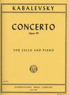 International Music Company Kabalevsky: Concerto No.1 in G minor, Op.49 (cello & piano)