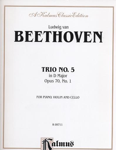 Alfred Music Beethoven, L. van: Piano Trio No. 5 Op. 70 No.1 in D Major (violin, cello & piano)