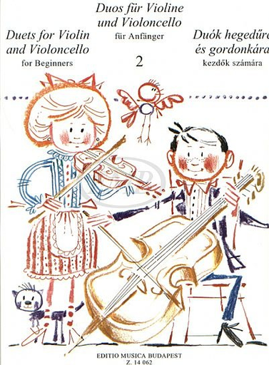 HAL LEONARD Pejtsik, Arpad: Duos for Beginners Vol.2 (violin & cello), Edito Musica Budapest