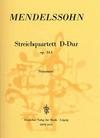 Mendelssohn, Felix: String Quartet in D major, Op.44 No. 1