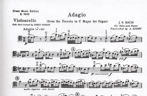 Carl Fischer Bach, J.S. (Casals): Adagio from Toccata in C Major (cello & piano)