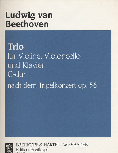 Beethoven, L. van: Trio in C major from the Triple Concerto Op. 56  (violin, cello & piano)