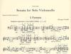 Crumb, G.: Sonata for Solo Violoncello (cello)