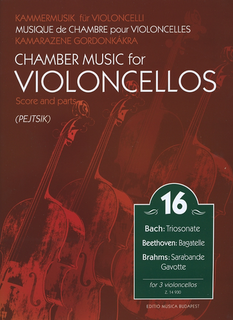 HAL LEONARD Pejtsik: Chamber Music for 3 Cellos Vol.16 (3 cellos) score & parts, Edito Musica Budapest