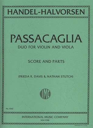 International Music Company Handel-Halvorsen: Passacaglia (Violin & Viola)