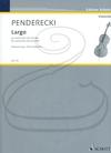 HAL LEONARD Penderecki: Largo (cello & piano reduction) Schott