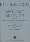 Carl Fischer Bach, J.S. (Klemm & Weymar): Die Kunst Der Fuge - The Art of Fugue (string quartet)