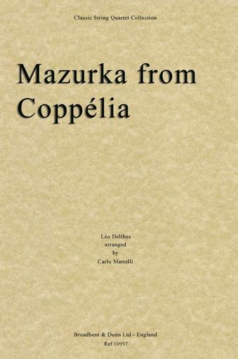 Carl Fischer Delibes, Leo: Mazurka from Coppelia (string quartet)