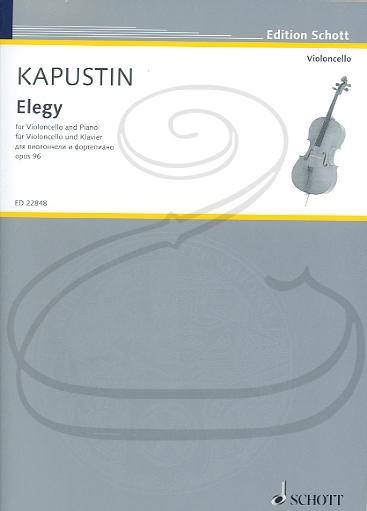 HAL LEONARD Kapustin: Elegy, Op.96 (cello & piano) Schott