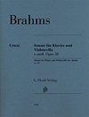 HAL LEONARD Brahms, J.: Sonata in E minor, Op.38 - URTEXT (cello & piano)