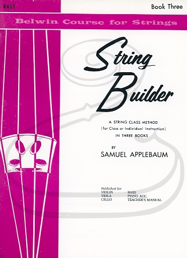 Alfred Music Applebaum: String Builder, Bk.3 (bass) Belwin