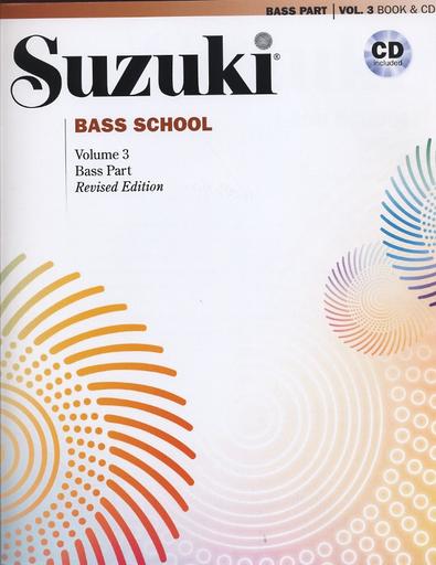 Suzuki: Bass School, Vol.3 (bass & CD) revised edition