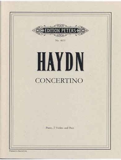 Haydn, F.J.: Concertino (Divertimento) in C, Hob XIV/3 (2 violins, cello, piano)