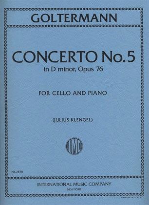International Music Company Goltermann, G: Concerto #5 in d minor Op.76 (cello/piano)