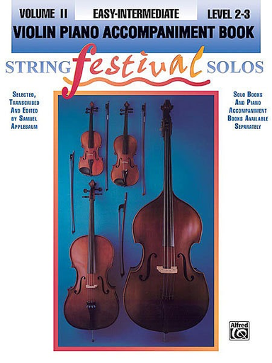 Alfred Music Applebaum, S.: String Festival Solos, Vol. 2 (piano acc. for cello)