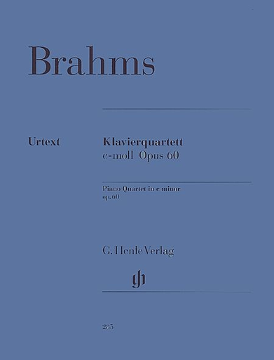 HAL LEONARD Brahms, J. (Krellmann, ed.): Piano Quartet in C Minor, Op.60, urtext (violin, viola, cello, and piano)